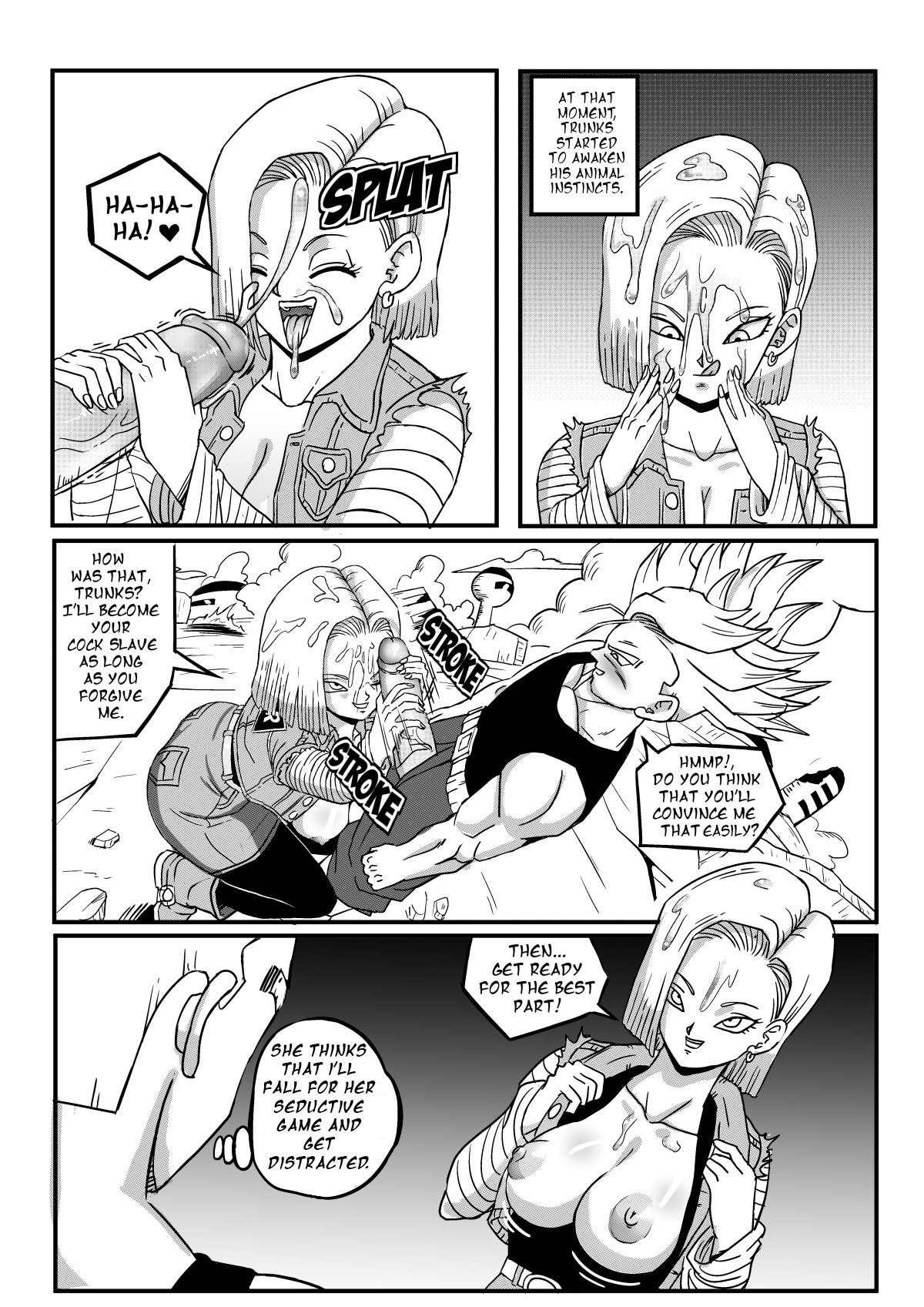 Android 18 Stays in the Future PinkPawg 06