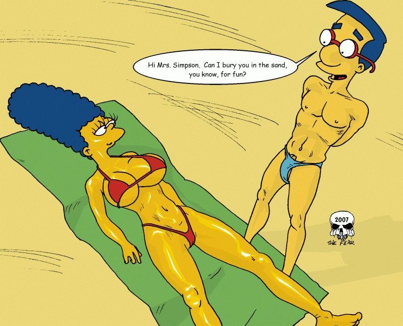 Beach Fun Simpsons XXX 01