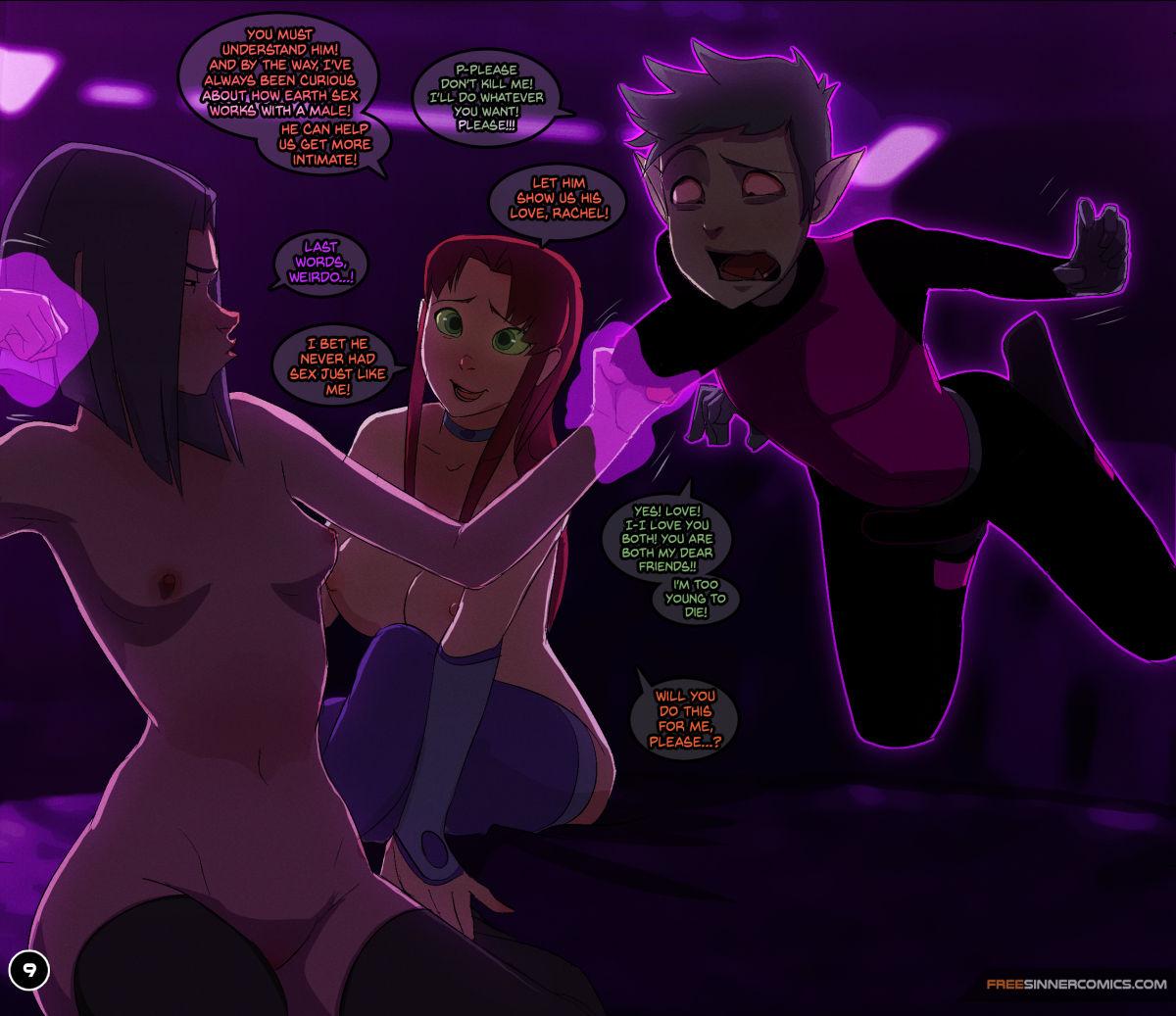 Raven X Starfire Sillygirl 09