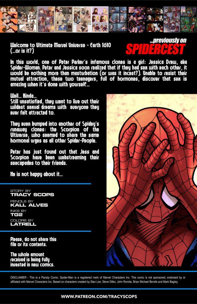 Spidercest Ultimate Spider Man Xxx Tracy Scops 02