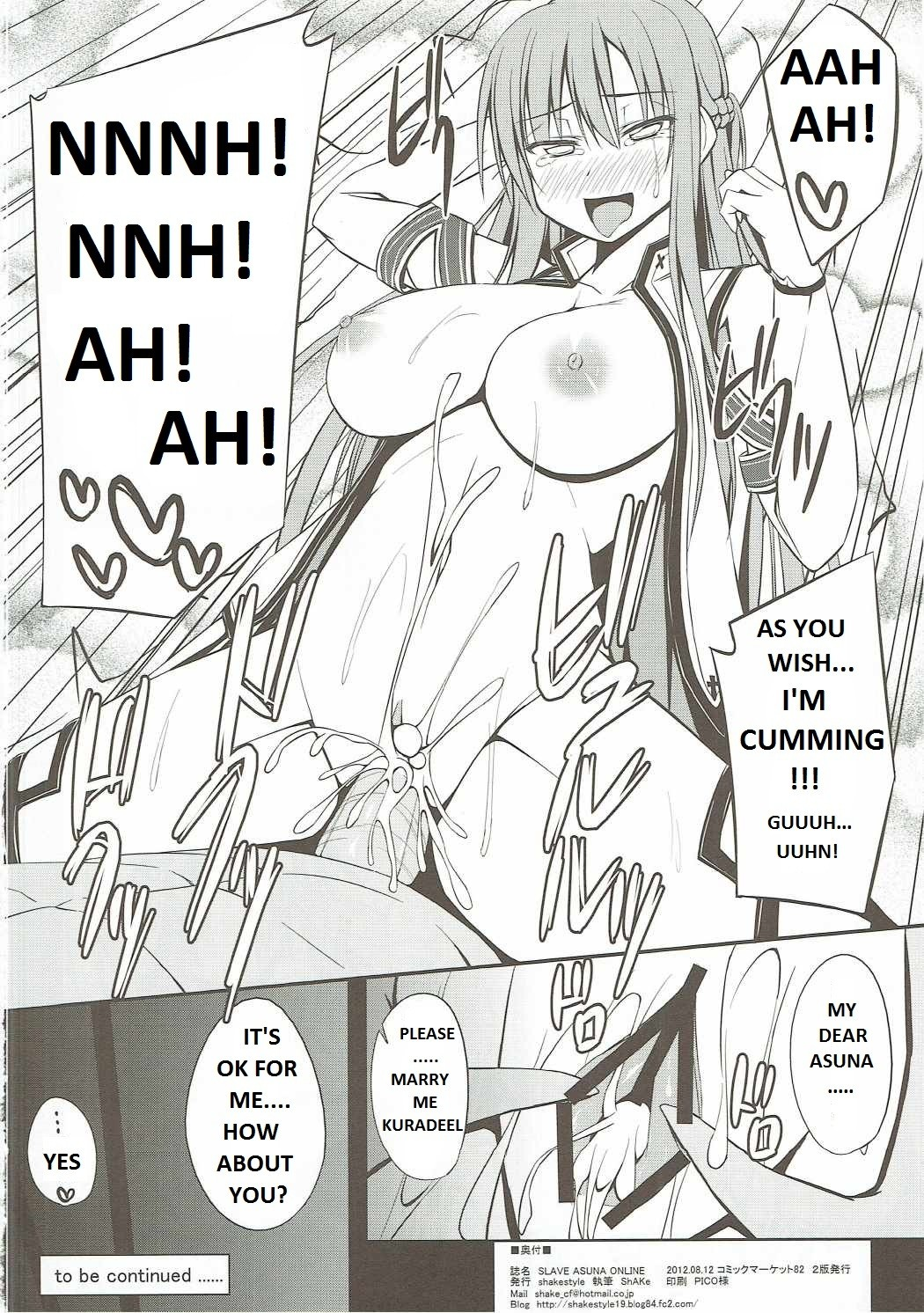 Slave Asuna Online 17