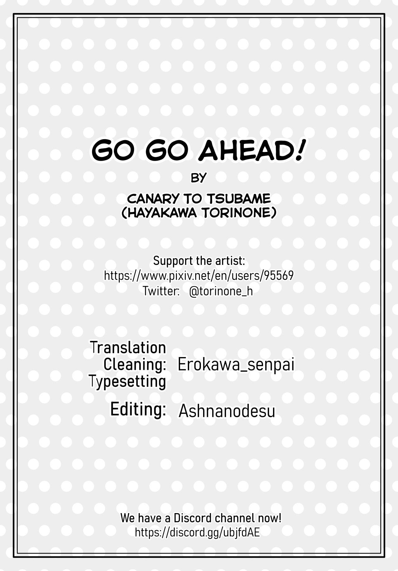 Go Go Ahead Canary To Tsubame 29