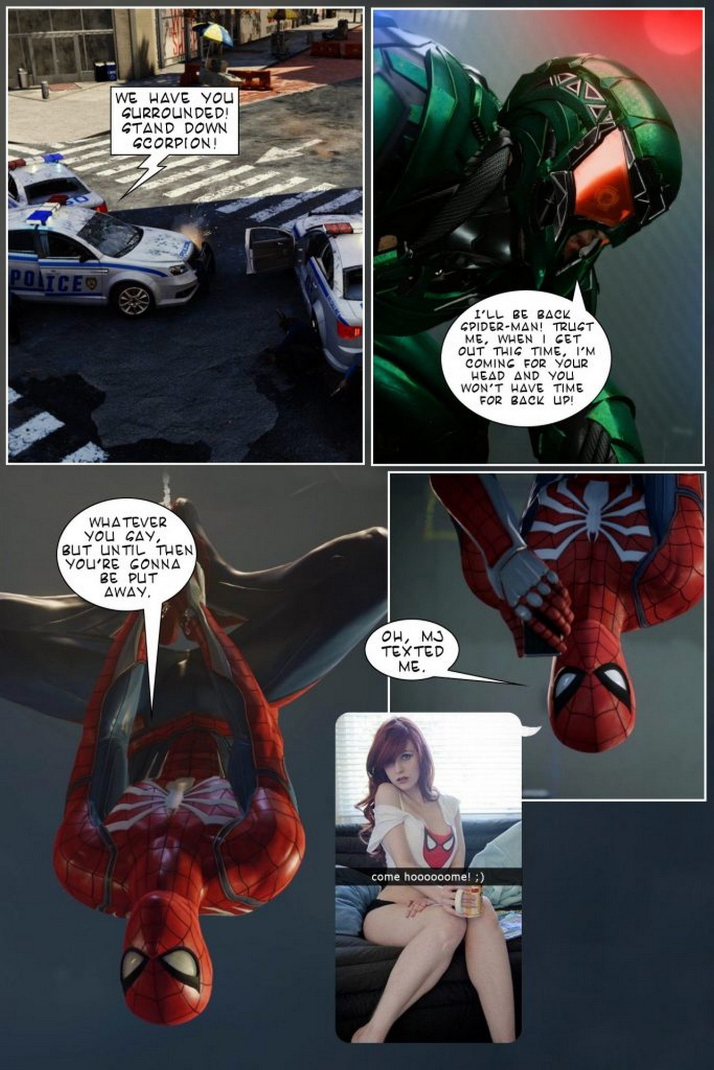 Getting Home To MJ – Spider Man